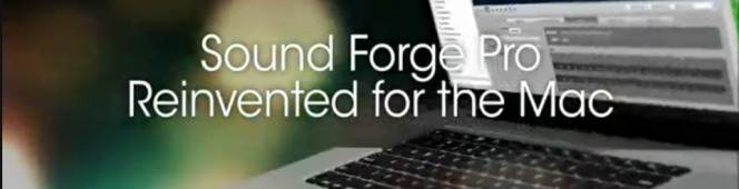 Sony Officially Announce Sound Forge Pro Mac1.0